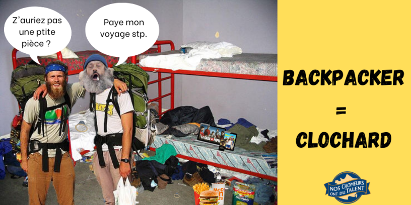 backpacker clochards