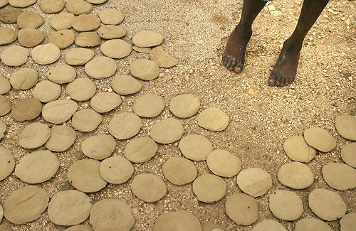 galette de terre afrique